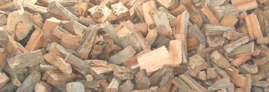 Seasoned ironbark firewood split and ready to burn