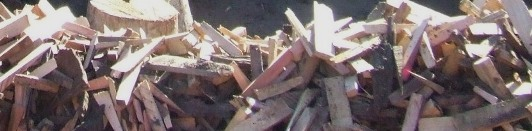 Our machine cut hardwood kindling is free of rubbish and sawdust