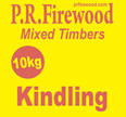 Each bag of kindling contains a mixture of hardwoods and softwoods in varying shapes and sizes.